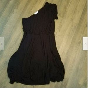 To The Max L One Shoulder Dress